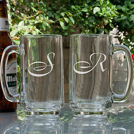 Customised Name Initial Beer Mugs