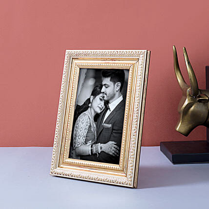 Personalised Gold Toned Table Top Photo Frame