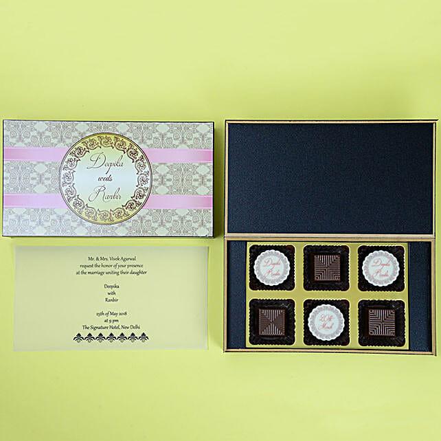 Wedding Invitation Card & Chocolates Online