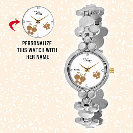 personalised wrist watch