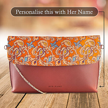 Personalised Handloom Sling Bag