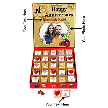 Buy Online Personalised Anniversary Chocolate