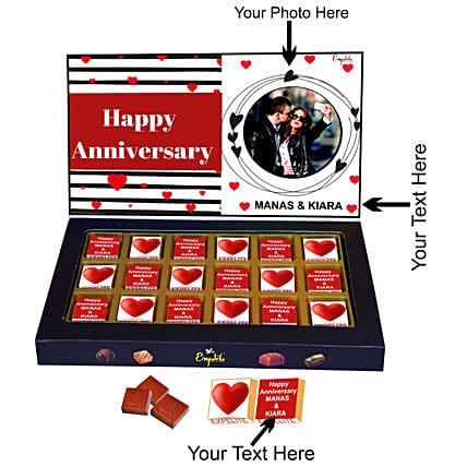 Online Personalised Anniversary Chocolates Gift