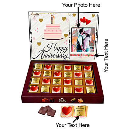 Send Personalised Happy Anniversary Chocolates Gift