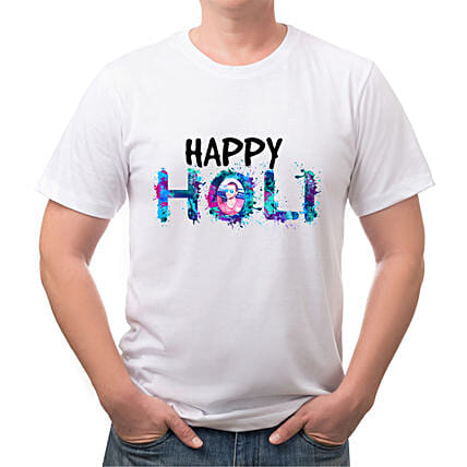 Personalised Holi Special White T shirt