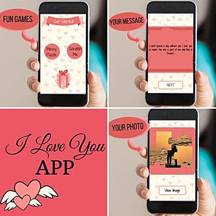 Personalised I Love You APP With Animation