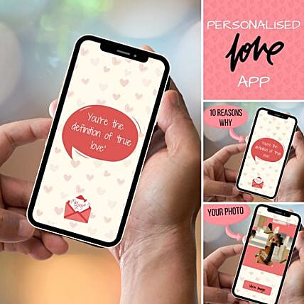Personalised I Love You APP With Scratch Card