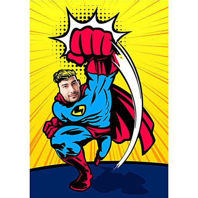 online super hero caricature