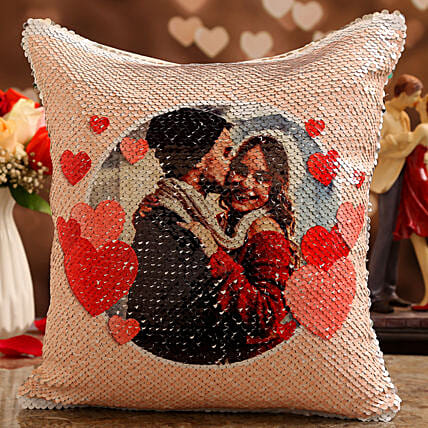 online vday theme personalised cushion