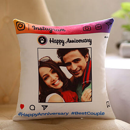 Instagram Theme Anniversary Cushion Online