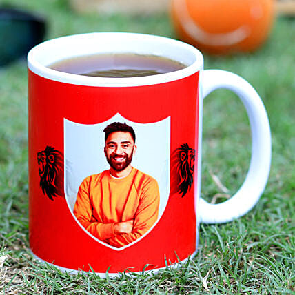 Personalised Kings XI Punjab White Mug Hand Delivery:Mug