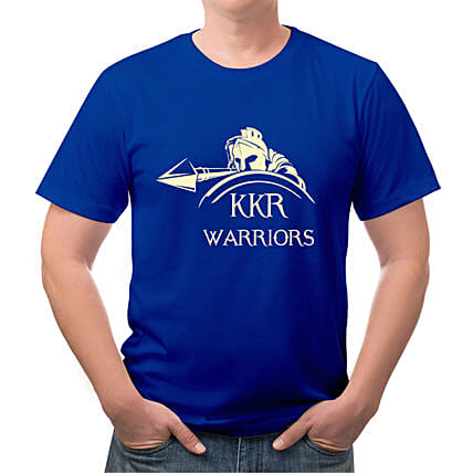 Personalised KKR Blue Round Neck T Shirt
