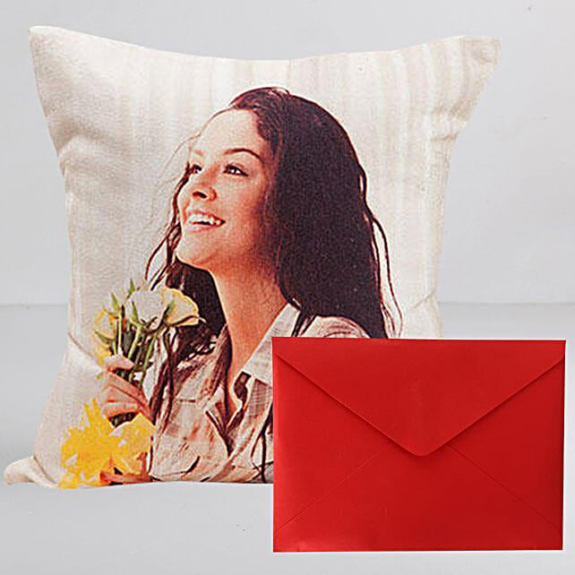 Personalised LED Cushion n Greeting Card