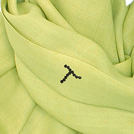 Online Customised Lime Yellow Pashmina