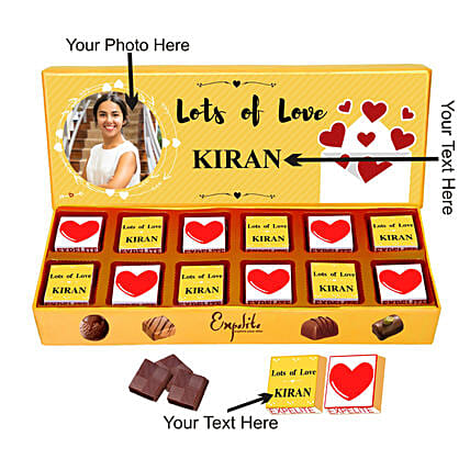 Personalised Lots Of Love Chocolates For Her