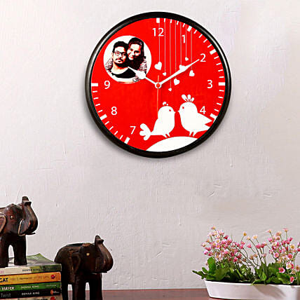 personalised wall clock online for vday