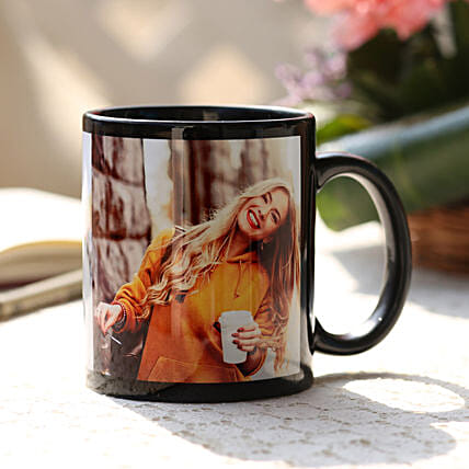 Black Valentines Personalised Mug