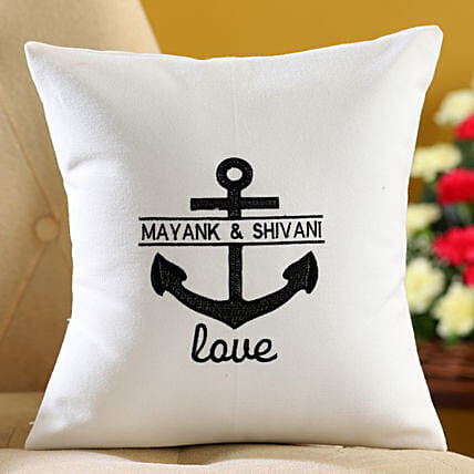 personalised embroidered cushion for couple