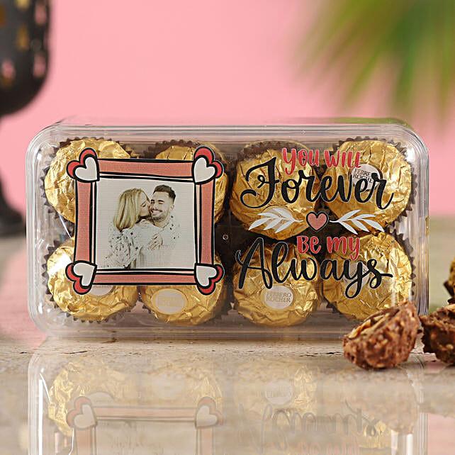 Personalised Love Ferrero Rocher Box:Valentine Personalised Chocolates