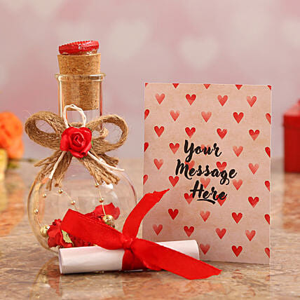 love message bottle for valentines day