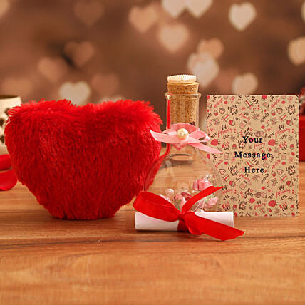 online love message bottle for valentines day