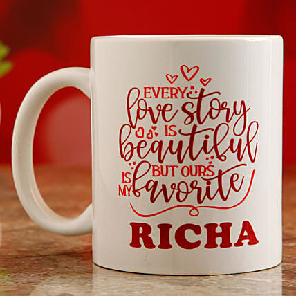 printed valentine day mug