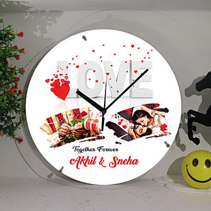 Personalised Love Wall Clock:Personalised Photo Clock