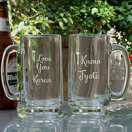 Personalised Glass Beer Mugs Online