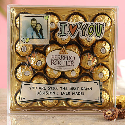 Personalised Love You Ferrero Rocher Box:Personalised Chocolates
