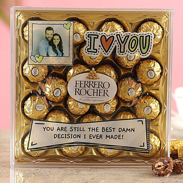 Personalised Love You Ferrero Rocher Box:Personalised Chocolates for Anniversary