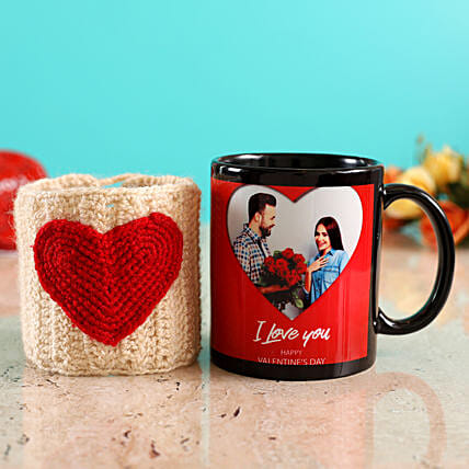 personalised mug with heart cover for vday online