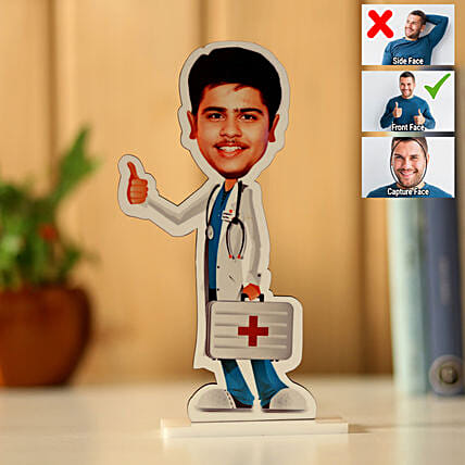 Online Personalised Male Doctor Caricature