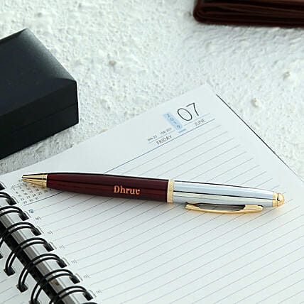 Personalised Maroon Roller Ball Pen