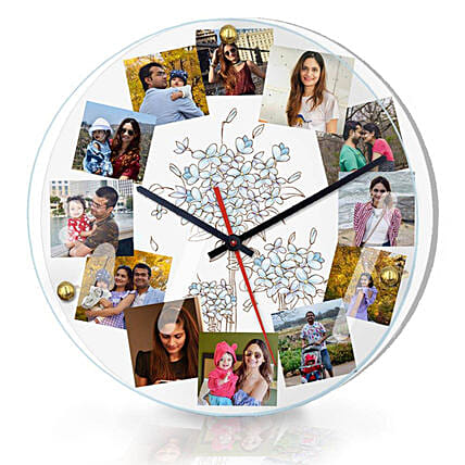 Personalised Photo Wall Clock Online:Personalised Photo Clock