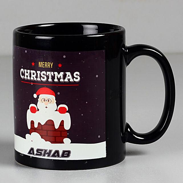 printed Santa coffee mug