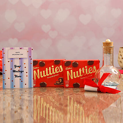Personalised Message In Bottle & Cadbury Nutties Online