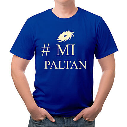 Personalised MI Paltan Round Neck T Shirt