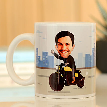 caricature mug for him online