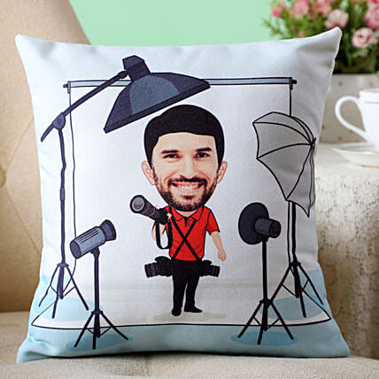 movie star caricature printed cushion online