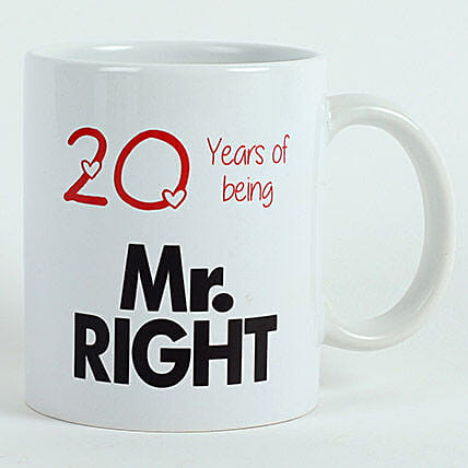 Printed White Mug for Him