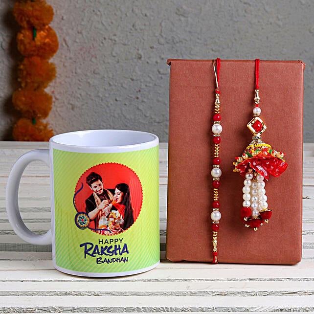 Personalised Mug & Bhaiya Bhabhi Rakhi Set online