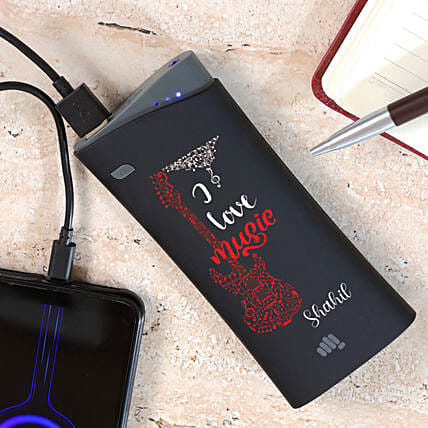 Personalised Music Lover Micromax Power Bank:Personalised Electronic Gadgets