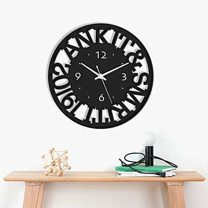 Customised Date and Name Wall Clock Online