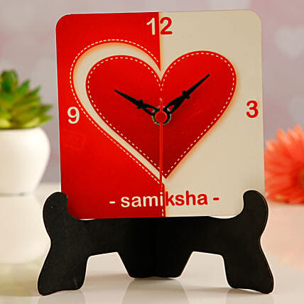 Customised Name Table Clock