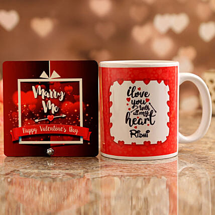 Customised Name Mug and Marry Me Table Top
