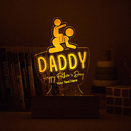 happy fathers day night lamp