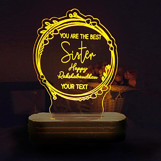 Online Best Sister Trophy Lamp