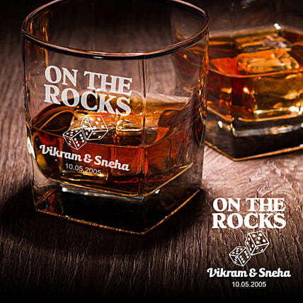 rocks whiskey glass set online:Personalised Glassware