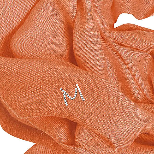 Online Customised Orange Pashmina