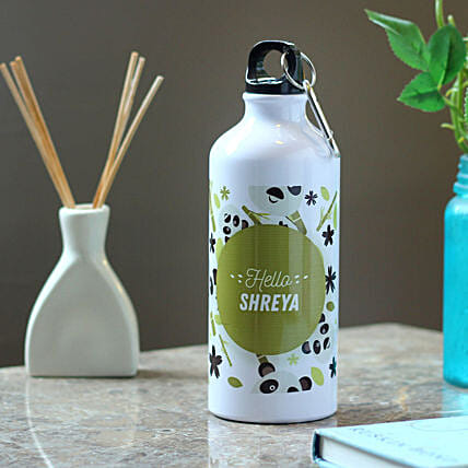 Personalised Panda Name Bottle